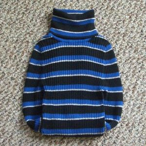 Express striped knit turtleneck sweater top S